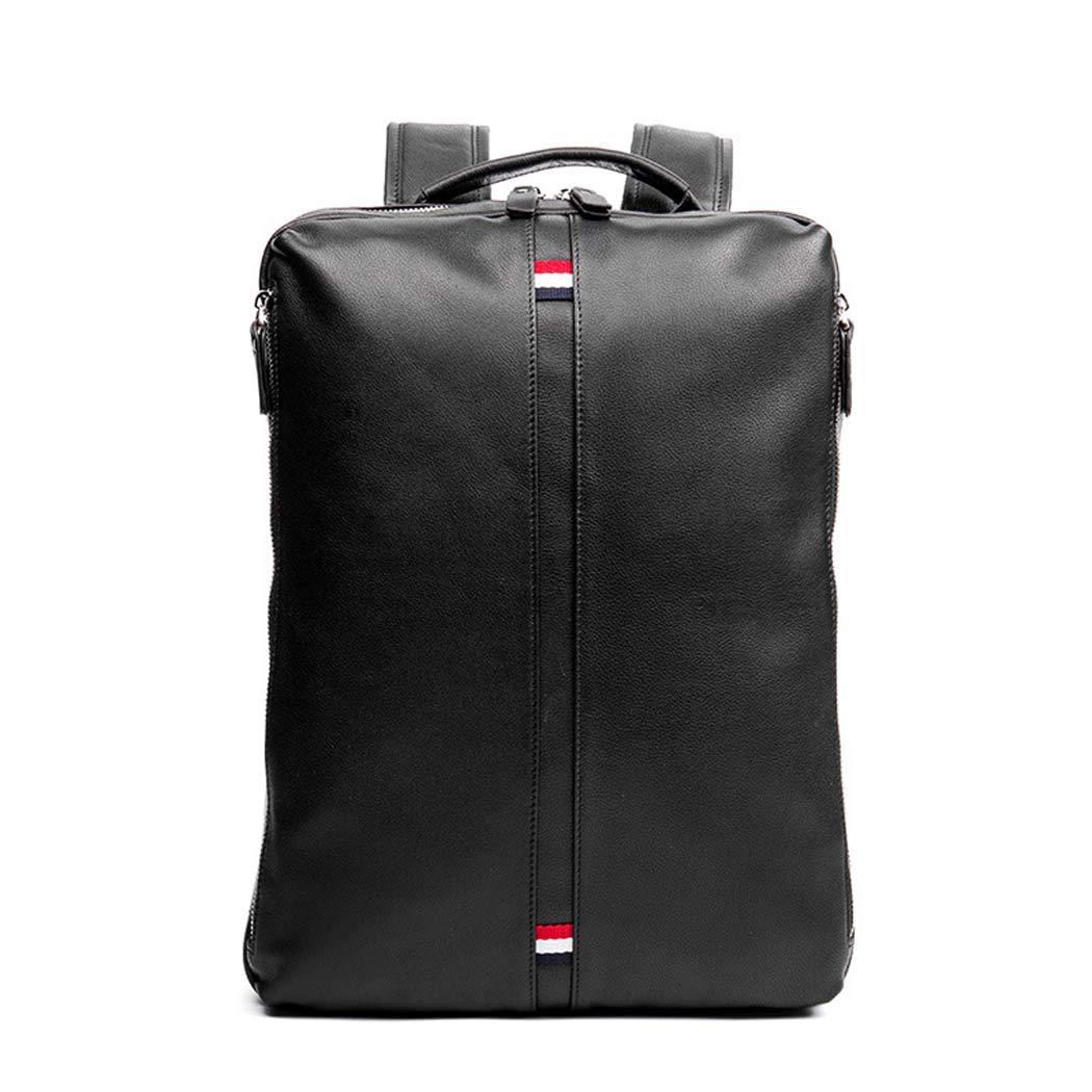 ラップトップのバックパック、メンズ学校のバックパックと旅行バッグカジュアル Daypack 防水ソフト PU ビジネスバックパック  Black B07H7GRLPW