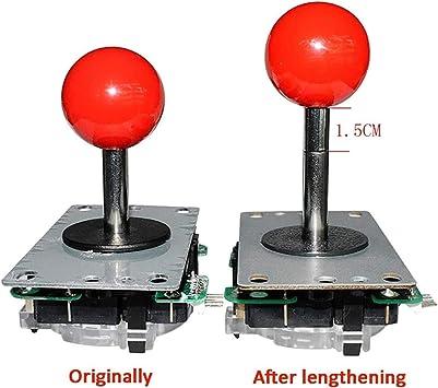 Arcade Joystick 15 mm shaft Extender Contrôle Tige d/'extension en acier inoxydable 3Pcs