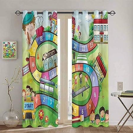 SONGDAYONE - Cortina de Aislamiento térmico para Sala de Juegos de Mesa, diseño de Circo: Amazon.es: Hogar