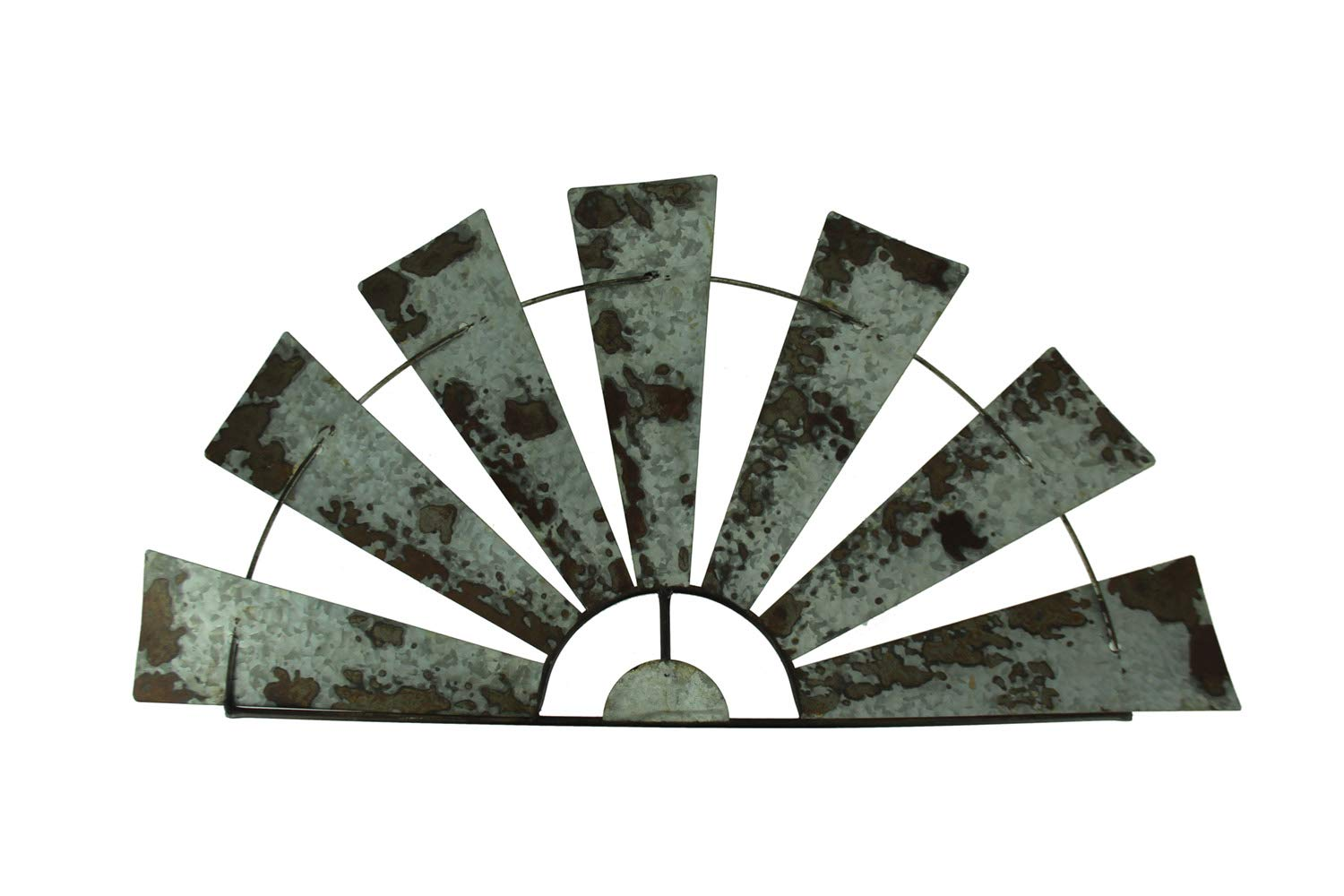 Special T Imports Galvanized Metal Half-Windmill Wall Sculpture (36'') by Special T Imports