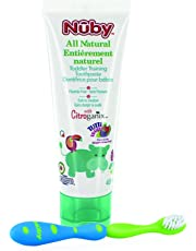 Nuby Citroganix Toddler Toothpaste with Toothbrush - Blue/Green