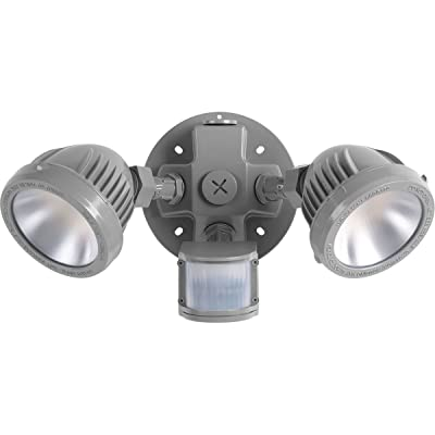 Progress Lighting P6341-8230K Floodlights Flood Light with Motion Sensor, 1000 lumens, Grey