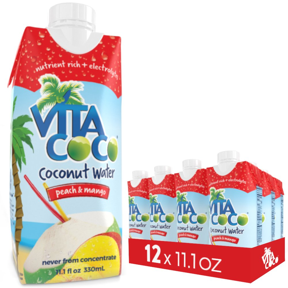 Vita Coco Coconut Water with Peach and Mango, 11.1-Ounce Containers, Pack of 12 by Vita Coco