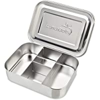 LunchBots Small Protein Packer Snack Container - Mini Stainless Steel Food Box With Portion Control Sections - Great for…