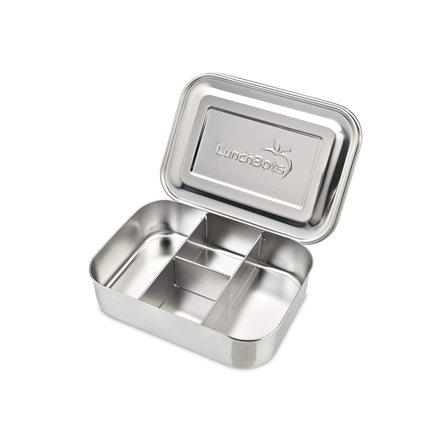 LunchBots Small Protein Packer Snack Container - Mini Stainless Steel Food Box With Portion Control Sections - Great for Nuts, Meat, Cheese and Finger Foods - Eco-Friendly, Dishwasher Safe and Durable
