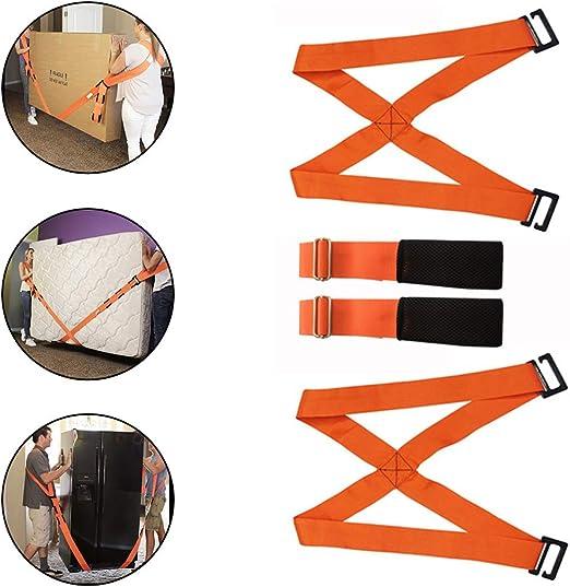 naranja Correas de elevaci/ón y movimiento correa de transporte para muebles sistema de elevaci/ón y movimiento para 2 personas