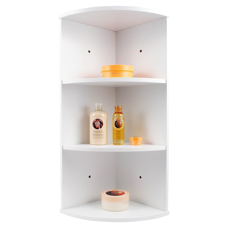 Top Home Solutions® MDF 3 Tier Wall Mounted Corner Shelf Bathroom Cabinet  Unit, 25 X 25 X 63 Cm, White: Amazon.co.uk: Kitchen U0026 Home