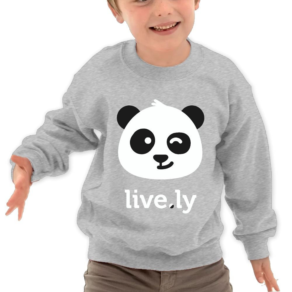 Babyruning Live.ly Panda Kids Cotton Pullover Cute Long-Sleeved Clothes