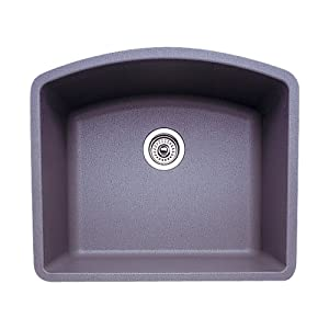 Blanco 440173 Diamond Single Bowl Silgranit II Sink, gray
