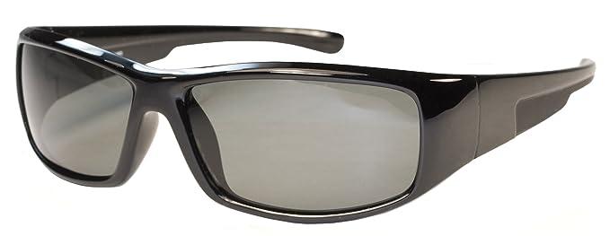 b2e99847276e Amazon.com: Kids Polarized Sunglasses for Age 6-12 JR65PL (Black ...
