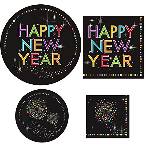 New Year Beverage Napkins (New Year's Eve Party Supplies Bundle