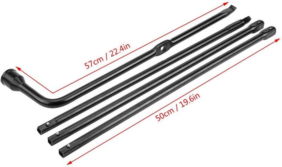 Kit Outil de R/éparation de Pneu D/émonte-Roue Cl/é de Roue en Forme L pour F250 350 450 550 Cl/é /à Pneu Voiture