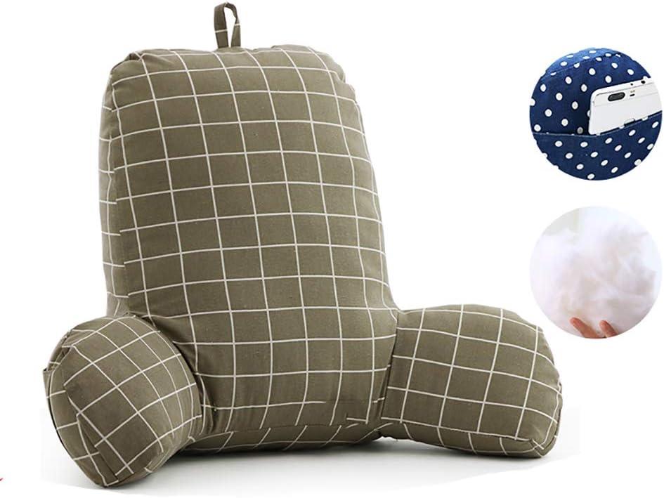Piumino (50x42x20cm) Divano Letto Cuscino per Schienale Cuscino per Schienale Giacca in Cotone e Lino Cuscino da Lettura Super Grande TCYLZ Cuscino con braccioli Fibra di Cotone 3D