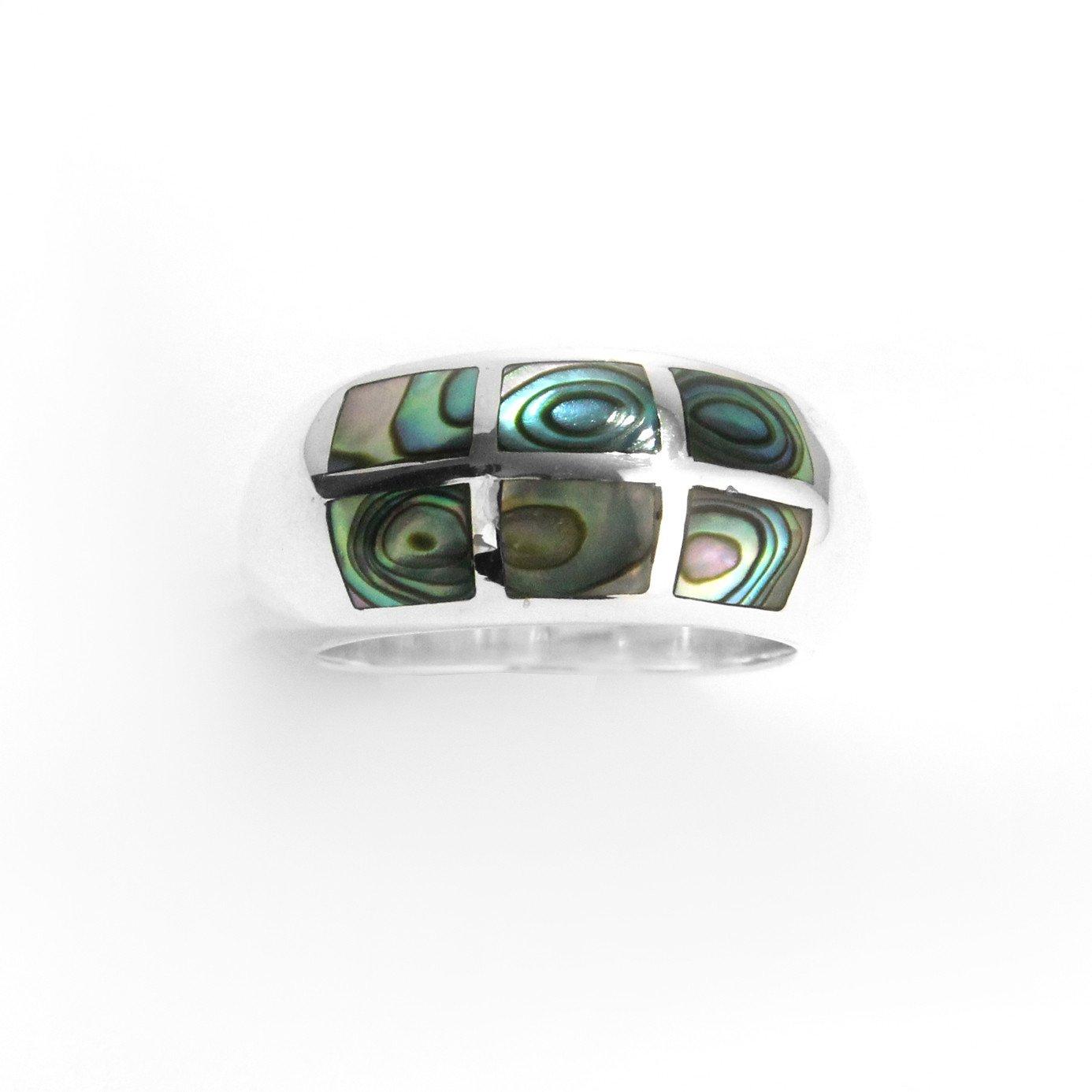 Abalone Shell &スターリングシルバーリング B00ODVOKN0