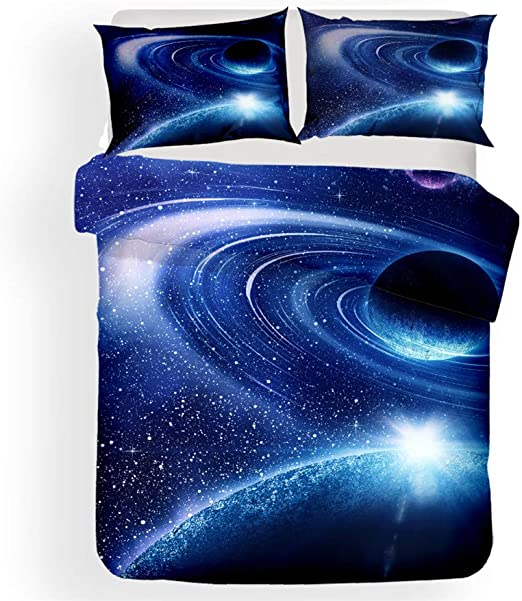 Milky Way Galaxy Comforter Set Summer Winter Queen Bedding Light Hypoallergenic