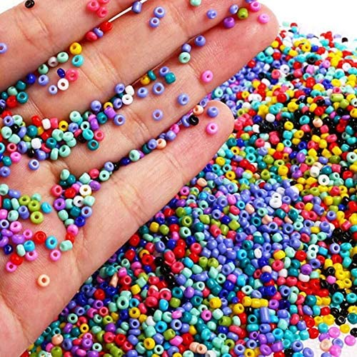 manualidades 6000 cuentas de cristal para semillas peque/ñas cuentas de pony opacas redonda. para hacer joyas varios colores 4 mm decoraci/ón de bricolaje