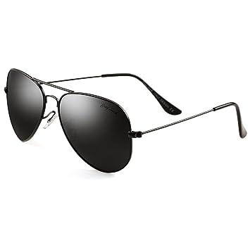 Grey Jack - Gafas de sol polarizadas estilo aviador clásico, ligeras, para hombres y