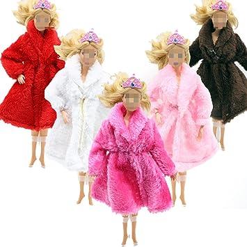 Ropa de Muñeca, Lance Home 5pcs Moda Invierno Otoño Vestidos de Novia de la Capa