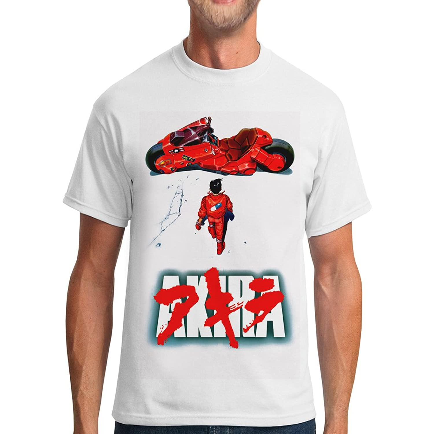 Men 39 s japan retro manga akira graphic short sleeve crew for Akira long sleeve shirt
