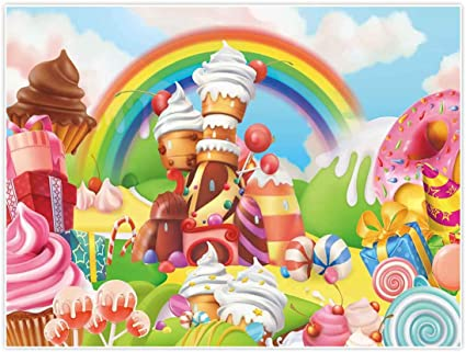 Allenjoy Lollipop Candyland Hintergrund 8x6ft Kamera