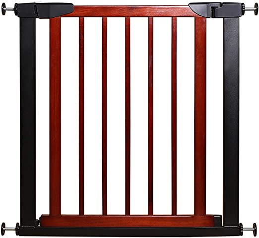 YONGYONG-Guardrail Barreras de Puerta Puerta de Seguridad Bar Infantil Infantil Escalera Valla Mascota Aislamiento Valla Madera Pieza Larga (Color : Red, Size : 131-138cm): Amazon.es: Hogar
