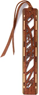 product image for Arches Design Cut Out Engraved Wooden Bookmark with Suede Tassel
