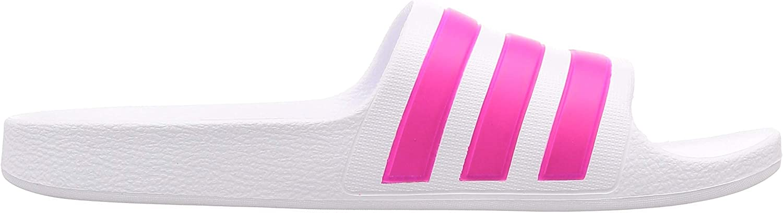 adidas Adilette Aqua K, Sandal Mixte Enfant Blanc Ftwr White Real Magenta Ftwr White