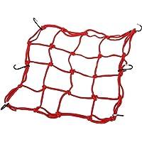 SODIAL(R) Red Malla Portaobjetos Elastico con Ganchos Rojo