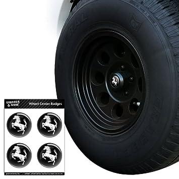 Caballo cría hasta en negro neumático rueda centro tapa resin-topped tarjetas pegatinas: Amazon.es: Coche y moto