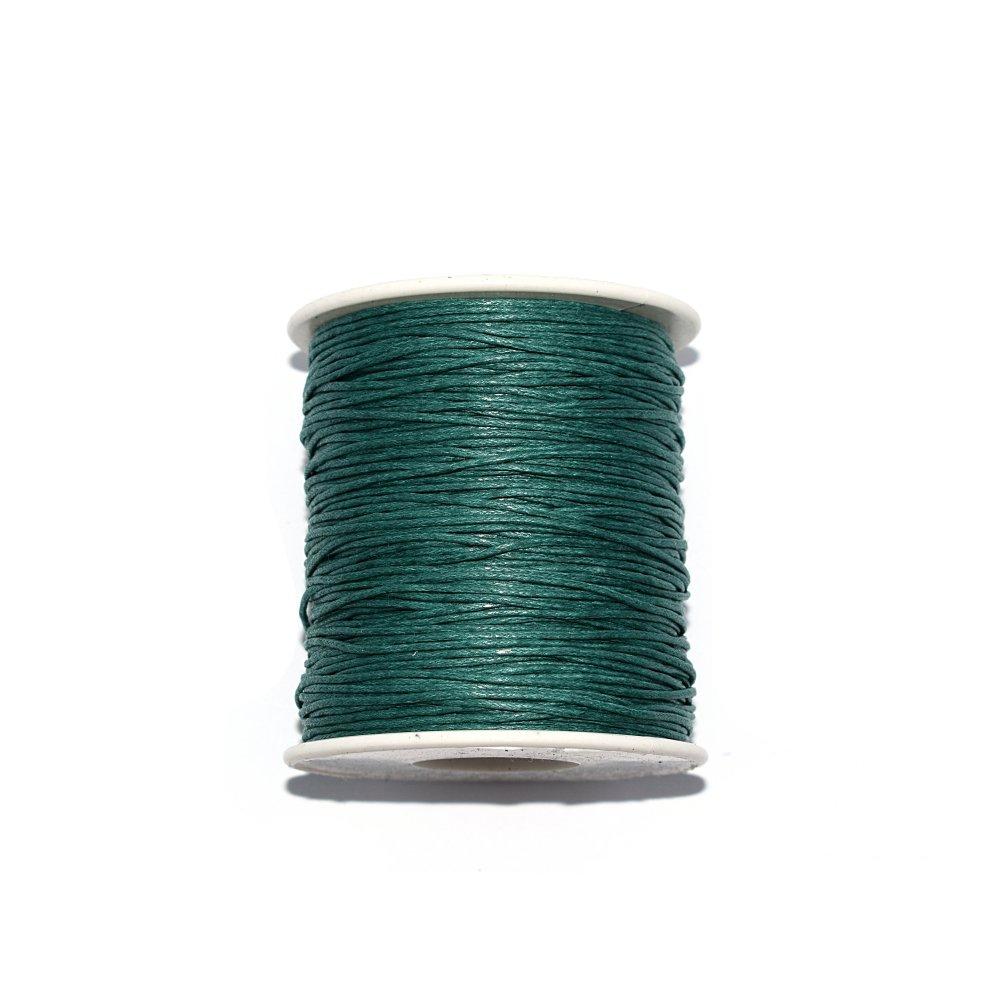 Baumwolle, gewachst, 1 mm, Waldgrün, 10 m.