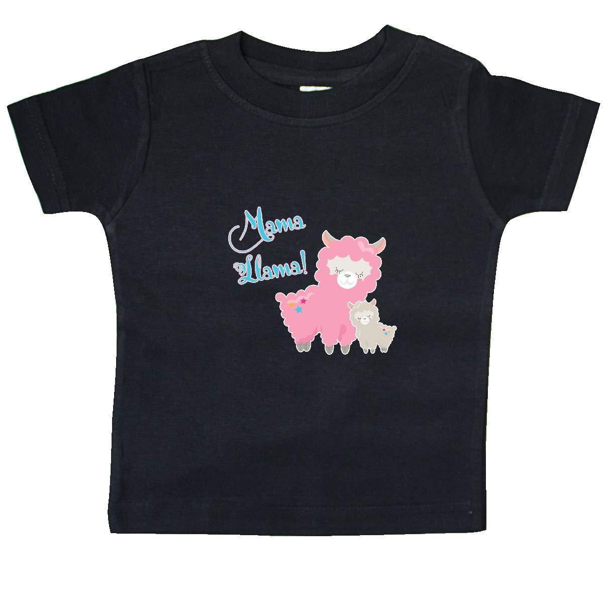 inktastic Mama Llama with Pink Mommy Llama /& White Baby Llama Baby T-Shirt