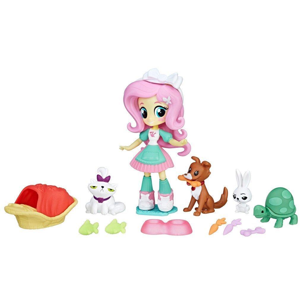 Kids Warehouse My Little Pony Equestria Girls Fluttershy Pet Spa Doll Playset