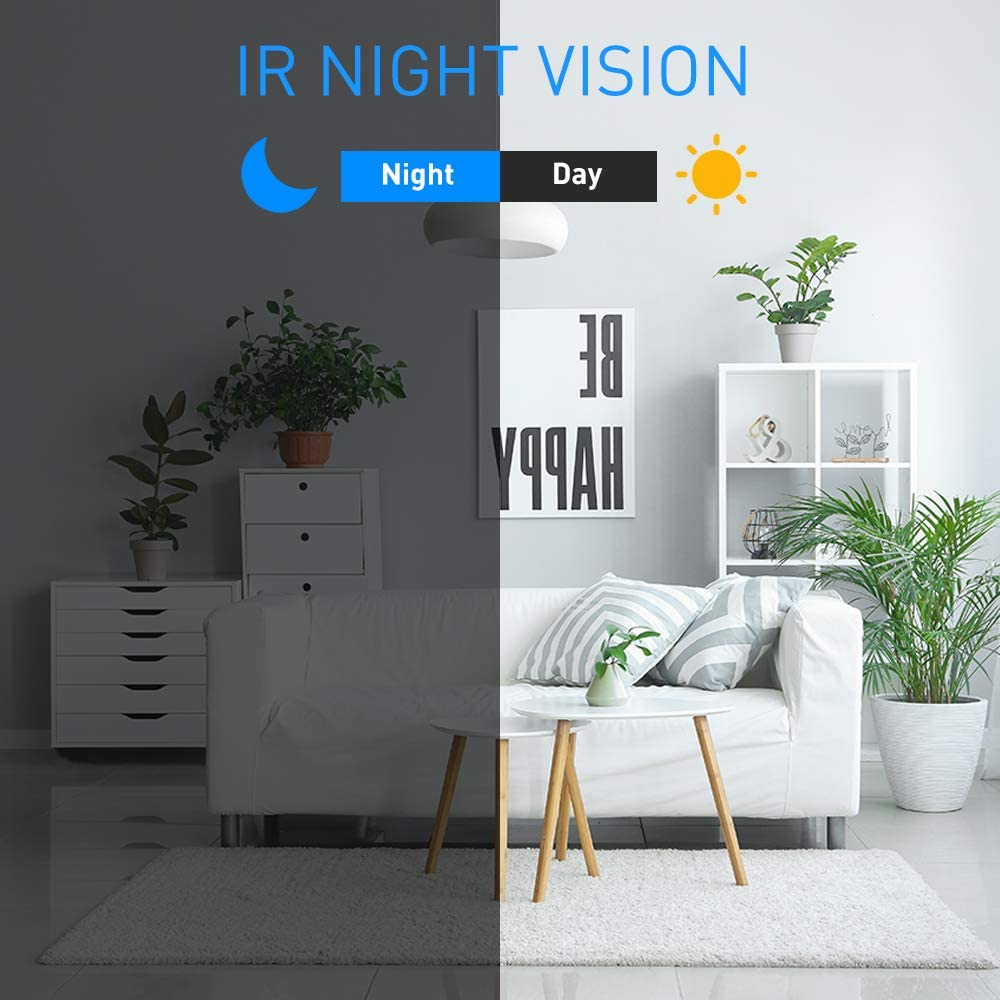 Spy Cameras Hidden,WiFi Wireless Mini Camera HD 1080P Security Surveillance Nanny Cam With App Night Vision Motion Detection for Home Indoor with a 32G SD Card
