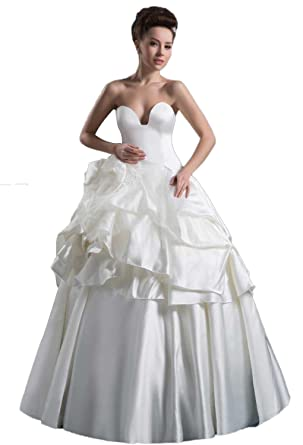 Angel Formal Dresses Taffeta Pick Ups Tier Wedding Dress at Amazon ...