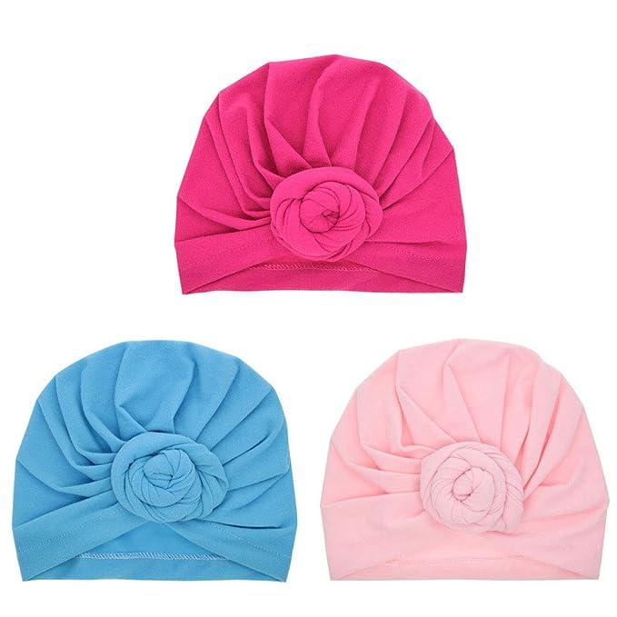FENICAL Nudo Infantil de Turbante Baby Turban Headbands Bohemia Head Knot Wrap Hat 3 Piezas: Amazon.es: Ropa y accesorios