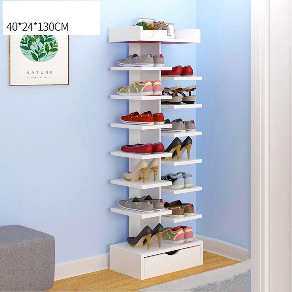 YNN 引き出し式家庭用ダストドアシュー付き大型ラックの靴ラック8段 (色 : 白) B07DXKXQ1F白