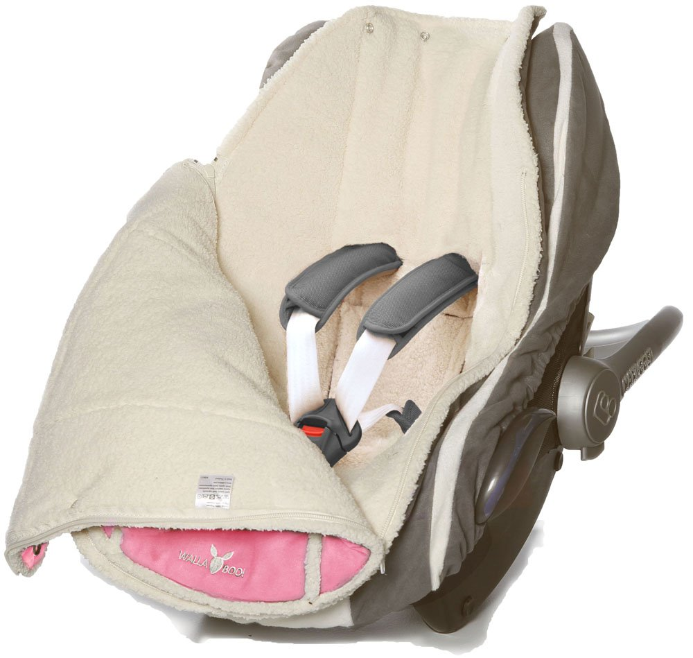 Fits any Stroller /& Jogger Color: Pink Baby sleeping bag for Car seat Recycled Polyester 0 to 12 Months Wallaboo Footmuff Beautiful Soft Suede and fleece Lining Toddler Universal Fitting