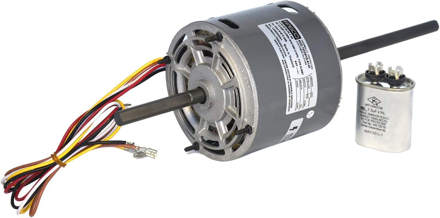 What's Up D1092 5.0-Inch OEM Direct Replacement for RV Coleman Air Conditioner Motor 1/3 HP, 115 Volts, 1675 RPM, 2 Speed, 3.4 Amps, OAO Enclosure, Double Shaft, Sleeve Bearing
