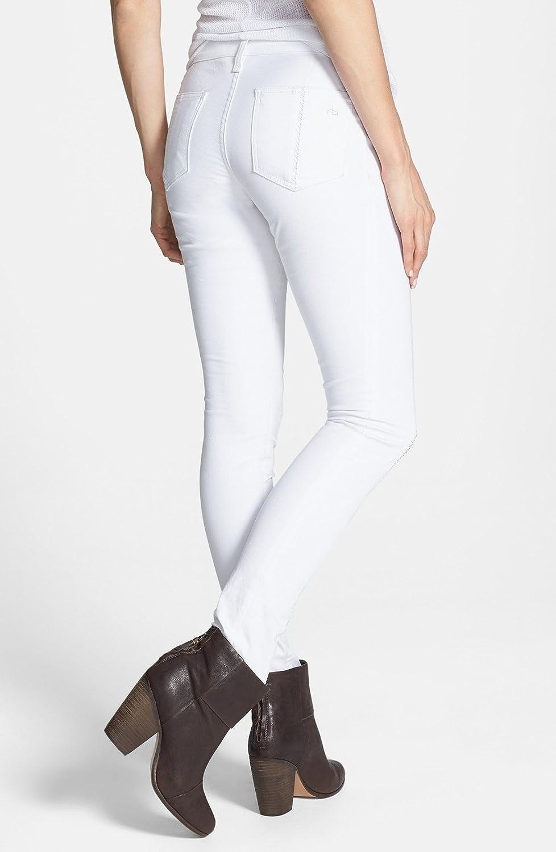 Rag & Bone Womens 'The Split Separating' Open Detail Skinny Jeans, Bright White (29)