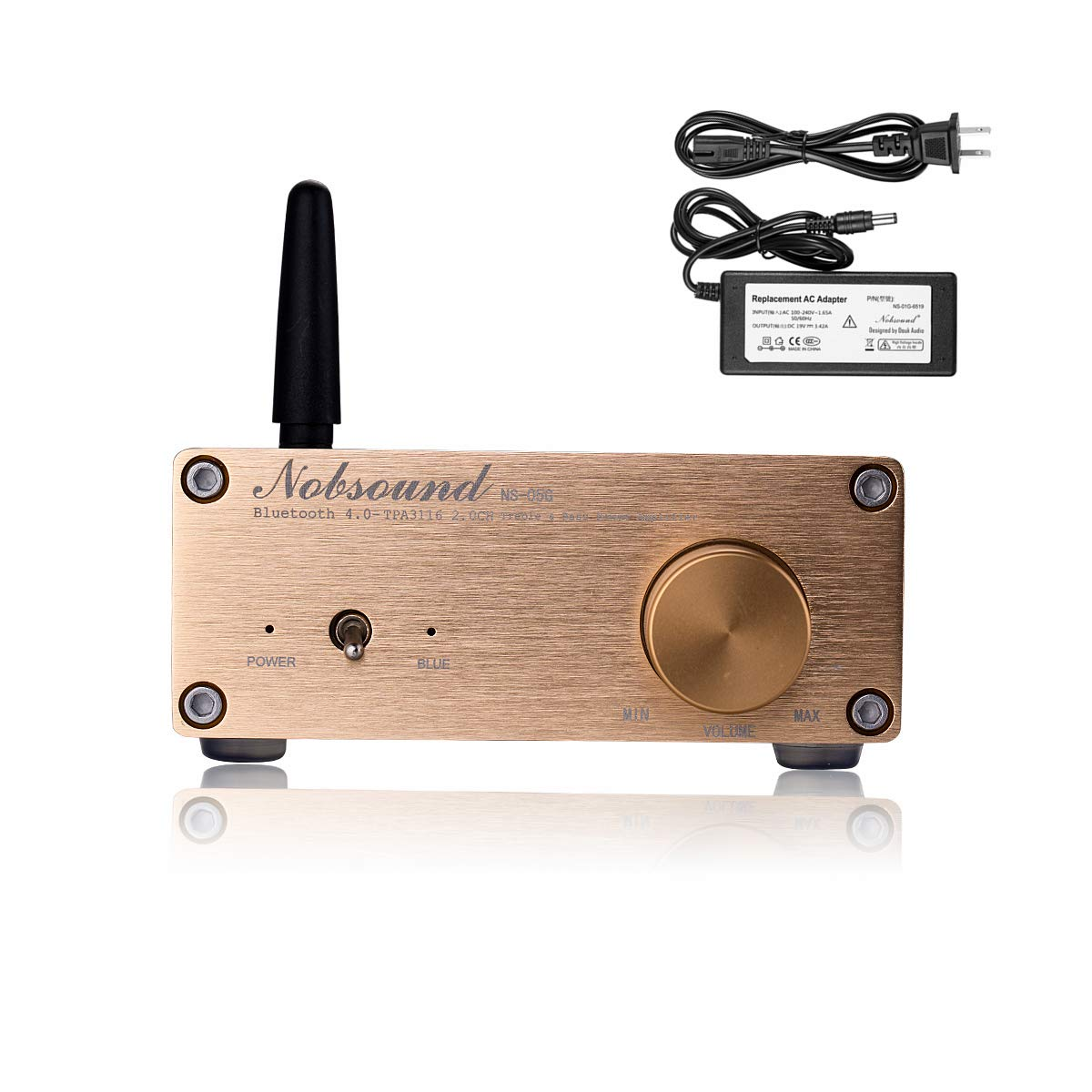 Nobsound NS-05G PRO 100W (50W x 2) Bluetooth 4.0 Power Amplifier Hi-Fi Stereo Class D Mini Digital Amp Home Speaker Audio System 2.0 Channel TPA3116D2