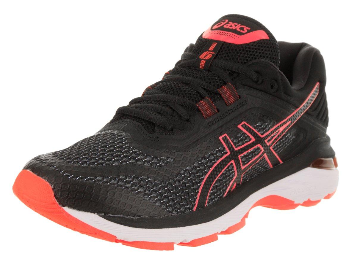 ASICS Women's GT-2000 6 Black/Flash/Coral Running Shoe 8 Women US