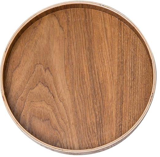 Apan Bandeja de madera Bandeja redonda de madera japonesa Bandeja ...