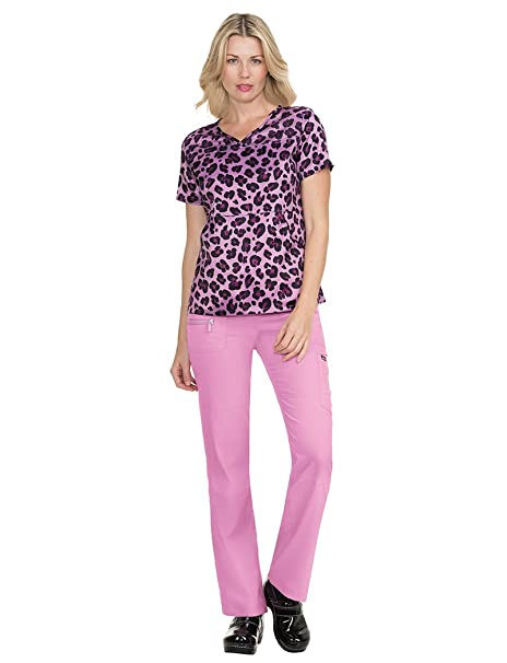b259803f226 Image Unavailable. Image not available for. Color: KOI Lite Women's Nima V- Neck Animal Print Scrub Top ...