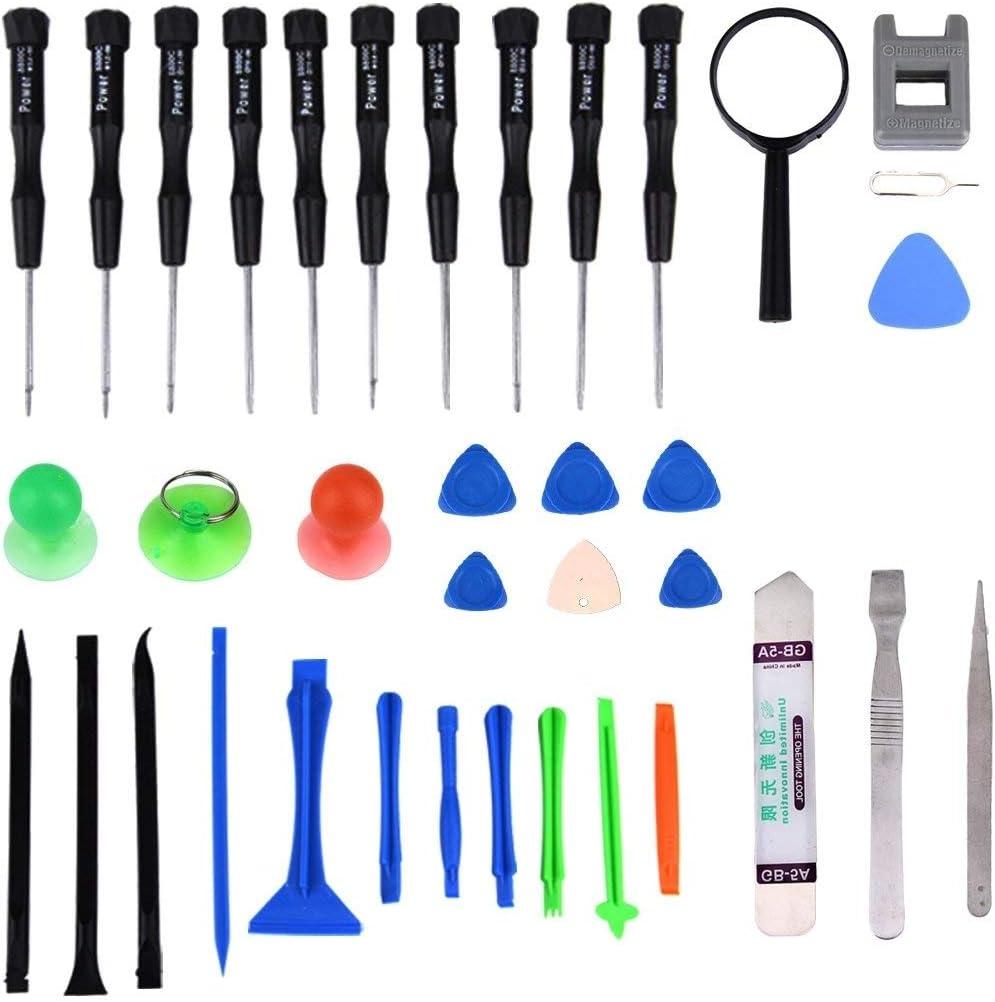 Fulok Easy 35 in 1 Professional Screwdriver Repair Open Tool Kit for Mobile Phones Accessory Replace Parts Screws