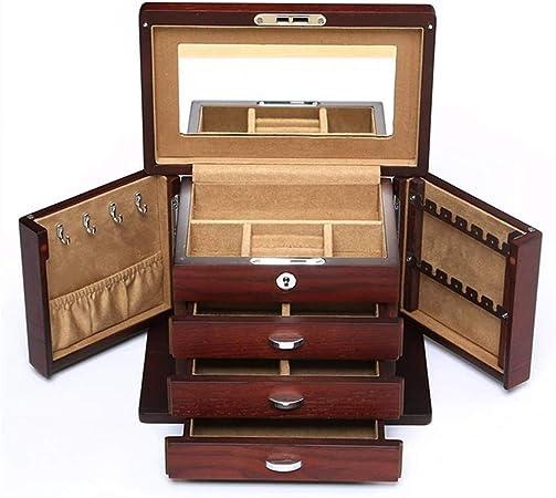 GOVD Caja Relojes Mujer Madera Estuche Relojes con Almohadillas Extraíbles para Relojes: Amazon.es: Hogar