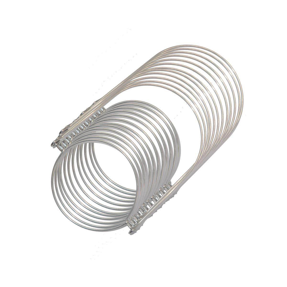 12 Pack Stainless Steel Jar Handle Silver Color for Mason Jar, Ball Pint Jar, Canning Jars,Mason Jar Hanger and Hook for Regular Mouth