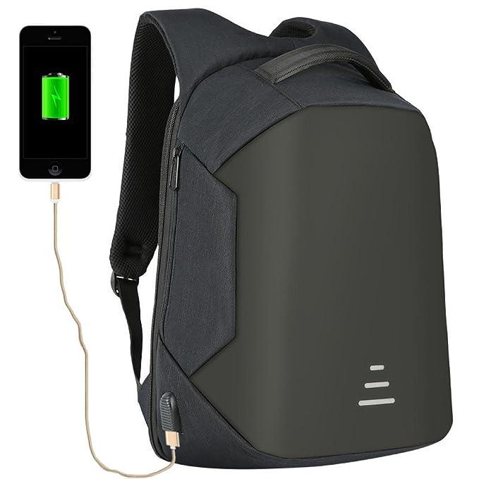 BAAFG Mochila Escolar De Nylon Mochila Mochila Escolar Unisex Bolsa De Ordenador Portátil Con Puerto De Carga USB Mochila Impermeable De Viaje ...