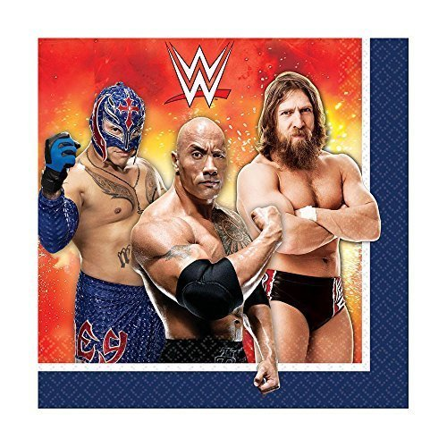 WWE Party Lunch Napkin 16 Ct [5 Retail Unit(s) Pack] - 511467 by Amscan