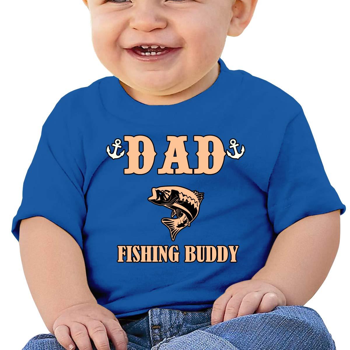 XHX403 Dads Fishing Buddy Infant Kids T Shirt Cotton Tee Toddler Baby 6-18M