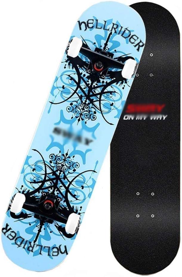 スケートボード スキルスケートボードスモールホイールスケートボードアセンブリスケートボード滑り止めスケートボード高耐荷重スケートボード弾性スケートボードスキルスケートボード (Color : D) D